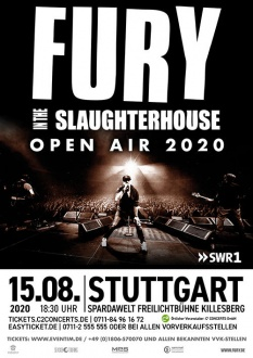 FURY IN THE SLAUGHTERHOUSE, 15.08.2020, Stuttgart, FURY IN THE SLAUGHTERHOUSE