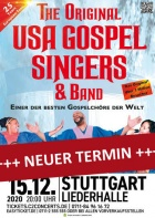 THE ORIGINAL USA GOSPEL SINGERS & BAND, 29.11.2021, Stuttgart (verschoben)