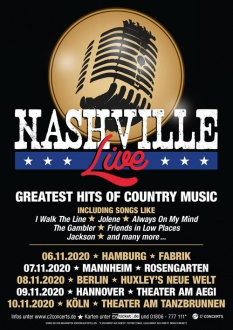 NASHVILLE LIVE! 06. - 10.11.2020, D, NASHVILLE LIVE! The Greatest Hits of Country Music